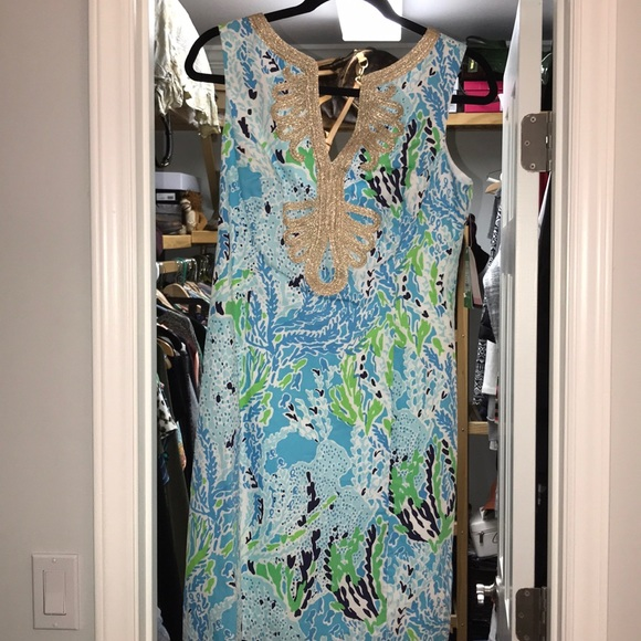 Lilly Pulitzer Dresses & Skirts - NWT Lilly Pulitzer Janice Shift Spa Blue size 4